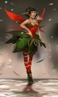 Christmas Elf by telthona