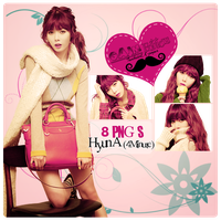 Pack PNG HyunA [4Minute] by GAJMEditions