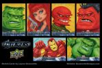 Upper Deck Avengers movie sketch cards APs by DeJarnette