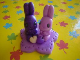 bunnies in love by Libellulina