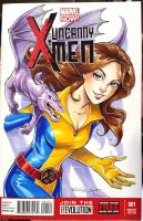Kitty Pryde X-Men Sketch Cover Commission by KelleeArt