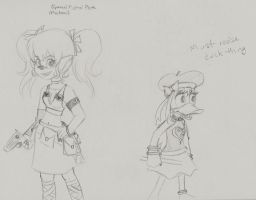 Pistol Pete and Damia Duck KH by anime-oujo