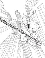 Scarlet Spider in the City by BESTrrr