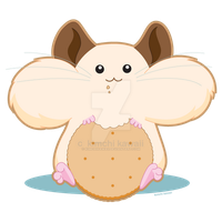 Hungry Hamster by kimchikawaii