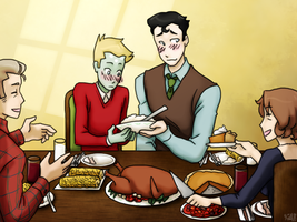 Thanksgiving with the Kents by black-angel-kitteh