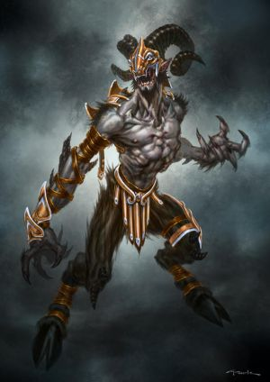 God of War III- Armored Satyr