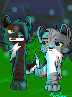 Hawkfrost and Ivypaw by XXred-pandaXX