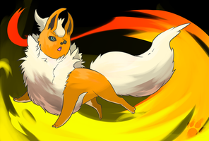 The Mighty Blazing Flareon by TheBlazingK