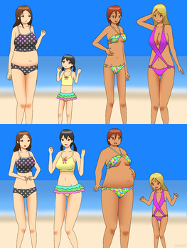 Swapping Beach Extra - Weight Swap and Age Swap by gomyugomyu