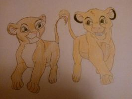 Simba and Nala by Sherlyana11