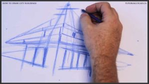 Learn how to draw city buildings 008 by drawingcourse