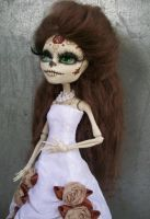 Victorian White skelita Custom day of the dead by AdeCiroDesigns