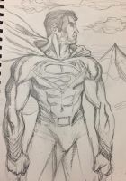 Superman sketch by aldoggartist2004