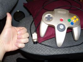 Gold N64 Controller by Draygone