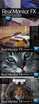 Real Monitor FX Photoshop Actions Preview by Grasycho