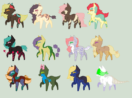 suddenly pony adoptables QvQ by REDandYELLOWZ
