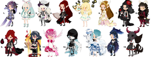 Free Raffle Adoptables (WINNERS ANNOUNCED) by Vexlovely