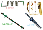 Seasons Weapons by Lichtherz