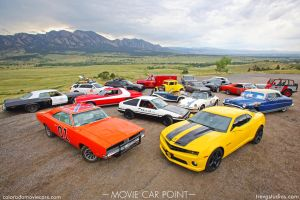 Colorado Movie Cars Group Shot - Boulder, Colorado by Boomerjinks