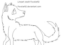 Male wolf lineart by Foxstar92
