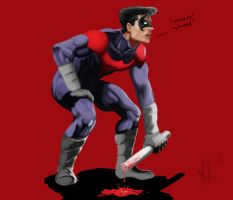 Nightwing winded by reptiliandemon