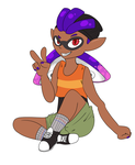 Freebie of a Splatoon OC by Mystmyst29