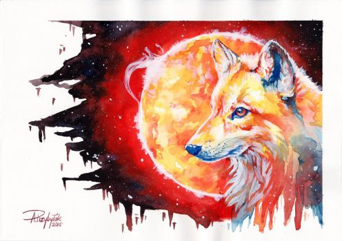 Wolf and Sun by AnnaP-Artwork