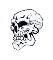 Smiley skull by chapstyle