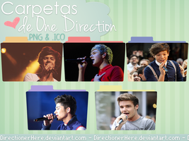 Pack Carpetas de One Direction - PNG e ICON by DirectionerHere
