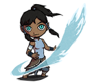Korra from Avatar in TWW style   POINTS COMMISSION by MajorasMasks