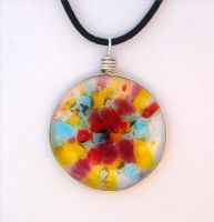 Confetti Fused Glass Pendant by FusedElegance