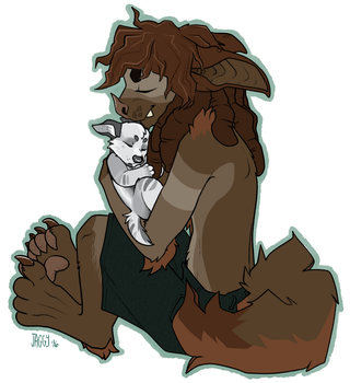 Jonsi and Raithe (Chibi) by SLlTHER