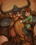 Stoick and little Hiccup by Rosana127