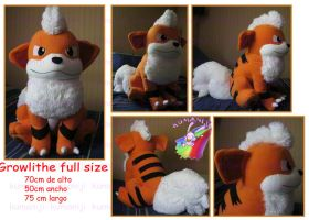 Growlithe life size by chocoloverx3