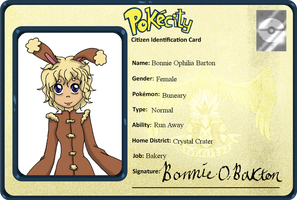 PokeCity ID Card: Bonnie by SamTheDragonGirl