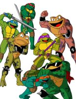 TMNT and Battletoads by X2j2012