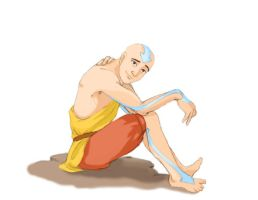 Older Aang by Sierryberry