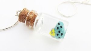 Bottled Ocarina Necklace by WTFcharms