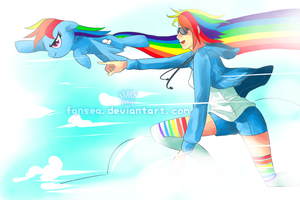 Rainbow Dash by fansea