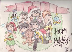 Multifandom holiday XD by phillie-chan