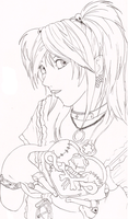 DN Lineart - Misa Amane by super0kawaii0kitty