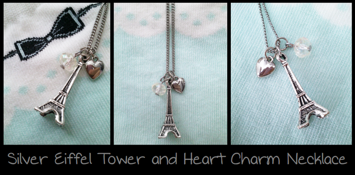 Silver Eiffel Tower Necklace by Feyon