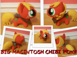 Big Mac Chibi Pony Plushie by happybunny86