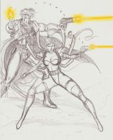 Zealot and Grifter '93 sketch by JosephB222