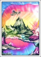 Mountain Morning Glory Waxart by Villa-Chinchilla