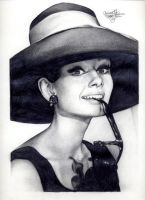 Audrey Hepburn 162 graphite by Ethan-Carl