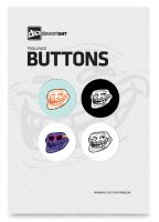 Trollface Button Pack by DeviantArtGear