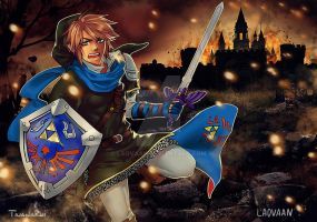 Collab with TiuanaRui: Link Hyrule Warriors by Laovaan