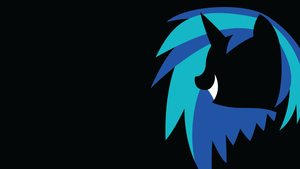 Vinyl Scratch (shadeless sihouette) by BluePedro