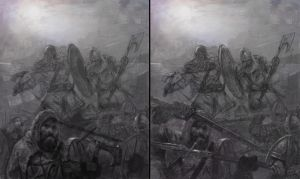 Dark Ages cover sketches by DiegoGisbertLlorens